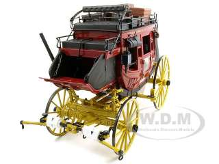 WELLS FARGO OVERLAND STAGECOACH DIECAST MODEL 1/16 BY FRANKLIN MINT