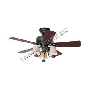44 IN. IRON WITH 5 CHERRY/DARK WALNUT BLADES   FANS