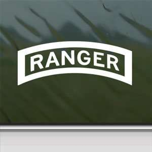 US Army Ranger Tab Emblem Insignia White Sticker Laptop