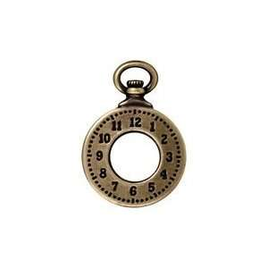 TierraCast Antique Brass (plated) Clock 20x29mm Charms