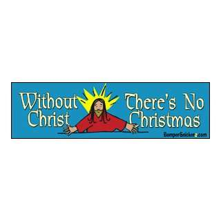 Christmas   Christmas Bumper Stickers (Large 14x4 inches) Automotive