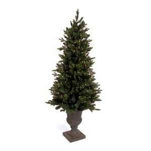 Pine White Lights Pre lit Christmas Tree Black Urn