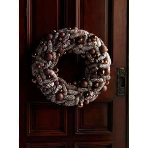 of 2 Natures Glow Frosted Pine Cone Artificial Christmas Wreaths 21