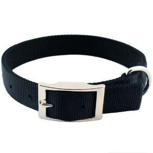 Gear 18 Inch Double Layer Nylon Dog Collar, Black
