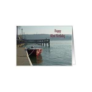 Fishing Boat 82nd Birthday Card Card Toys & Games