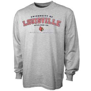 adidas Louisville Cardinals Ash Ambush Long Sleeve T shirt