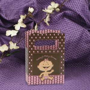 Girl Caucasian   Mini Personalized Baby Shower Favor Boxes Toys