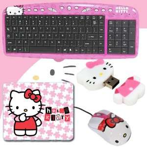 Kitty USB Optical Mouse #81309 + Hello Kitty 2 GB USB Flash Drive
