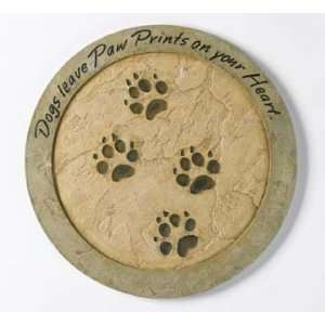 Dogs Leave Paw Prints Stepping Stone Patio, Lawn & Garden