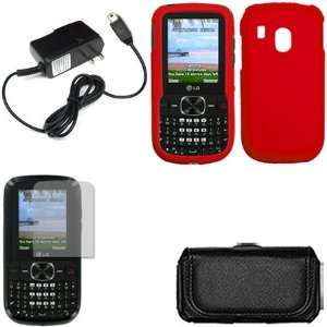 iFase Brand LG 500G Combo Rubber Red Protective Case