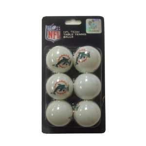 NFL Miami Dolphins Franklin Table Tennis Balls 6 pack