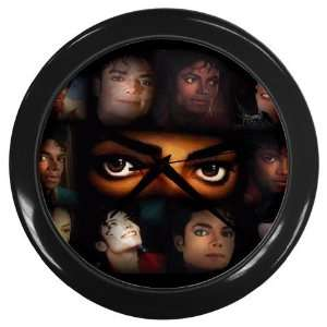 Many Faces of Michael Jackson Black Wall Clock Home Decor