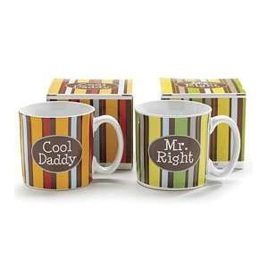 Set Of 2 Coffee Mugs/Cups Cool Daddy and Mr. Right One