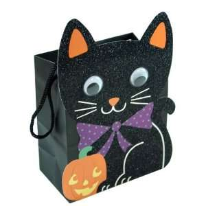 4pc Halloween Black Cat Paper Small Gift Bag Toys & Games