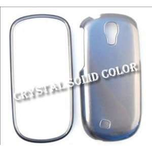 Samsung Gravity Smart T589 Crystal Solid Smoke Hard Case