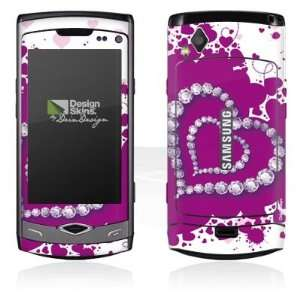 Design Skins for Samsung S8500 Wave   Diamond Heart Design