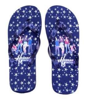 Black Hannah Montana Girls Flip Flop Slippers Clothing