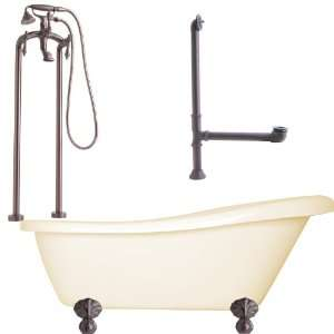 Newton Floor Mounted Faucet Package Soaking Tub