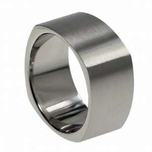 316L stainless steel ring with matte polish (Sizes 5 14)stone   Width