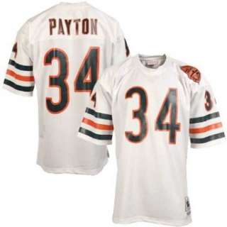Bears #34 Walter Payton White Throwback Football Jersey Clothing