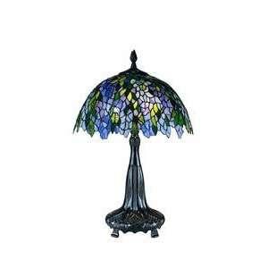 Dale Tiffany 0086/631 Blue/Green Wisteria Table Lamp, Antique Bronze