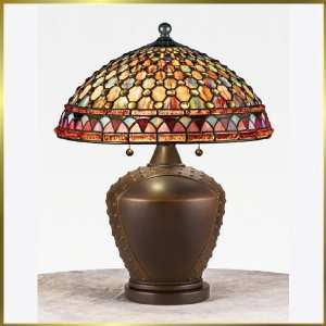Tiffany Table Lamp, QZTF6961M, 2 lights, Antique Bronze, 16 wide X 21