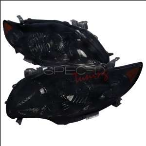 Toyota Corolla 2009 2010 Euro Headlights   Black