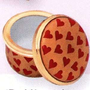 Halcyon Days Enamels The St. Valentines Day Collection Red Hearts Box