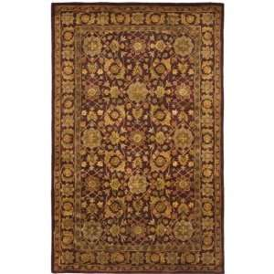 Antiquities AT53B Handmade Wine Wool Rug (5 x 8) Furniture & Decor