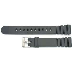 New Watch Band 18mm Black Rubber Band