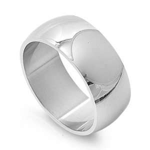 Stainless Steel 10mm Wide Band Ring (Size 6   15)   Size