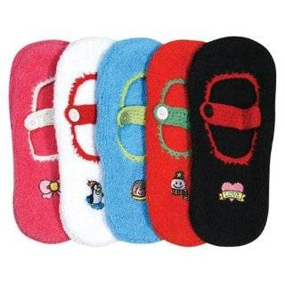 Winter Mary Jane Non Skid 5 Pack Slipper Socks