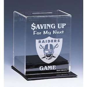 Oakland Raiders NFL Coin Bank