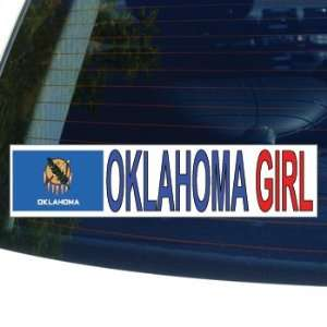 OKLAHOMA GIRL   flag   Window Bumper Laptop Sticker