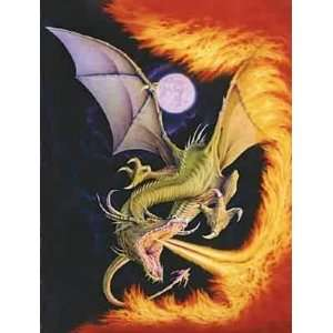 Dragon of Fire 1500 Piece Jigsaw Puzzle Toys & Games