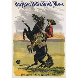 BUFFALLO BILLS WILD WEST HORSE HORSEBACK COW BOYS RIDING WILD