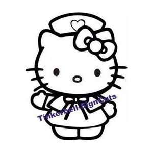 Hello Kitty Nurse Car Window Vinyl Decal Sticker  SHKN006  WHITE COLOR