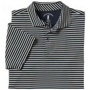 Fairway & Greene Mens Jackie Stripe Tech Jersey Polo Navy XX Large