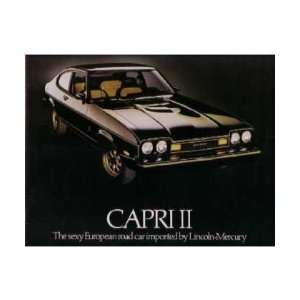 1976 Mercury Capri Ii Sales Brochure Literature Book