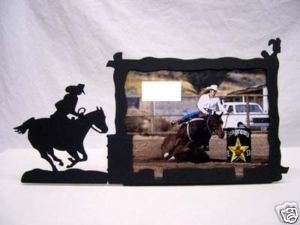 Barrel Racer Racing Rodeo Picture Frame 3x5 H Race