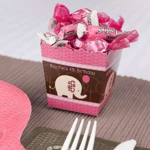 Girl Elephant   Personalized Candy Boxes for Birthday