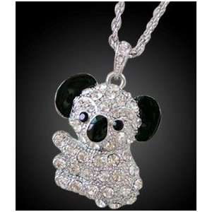 8GB Crystal Koala Bear USB Flash Drive with necklace