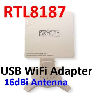 Long Range High Power USB Wireless WIFI Adapter+Antenna
